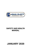 John Plott Health and Safety manual